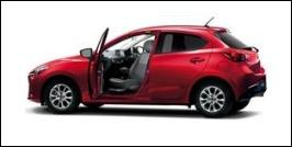 MAZDA DEMIO FRONT SEAT ACCESSIBLE VEHICLE: ROTATE TYPE